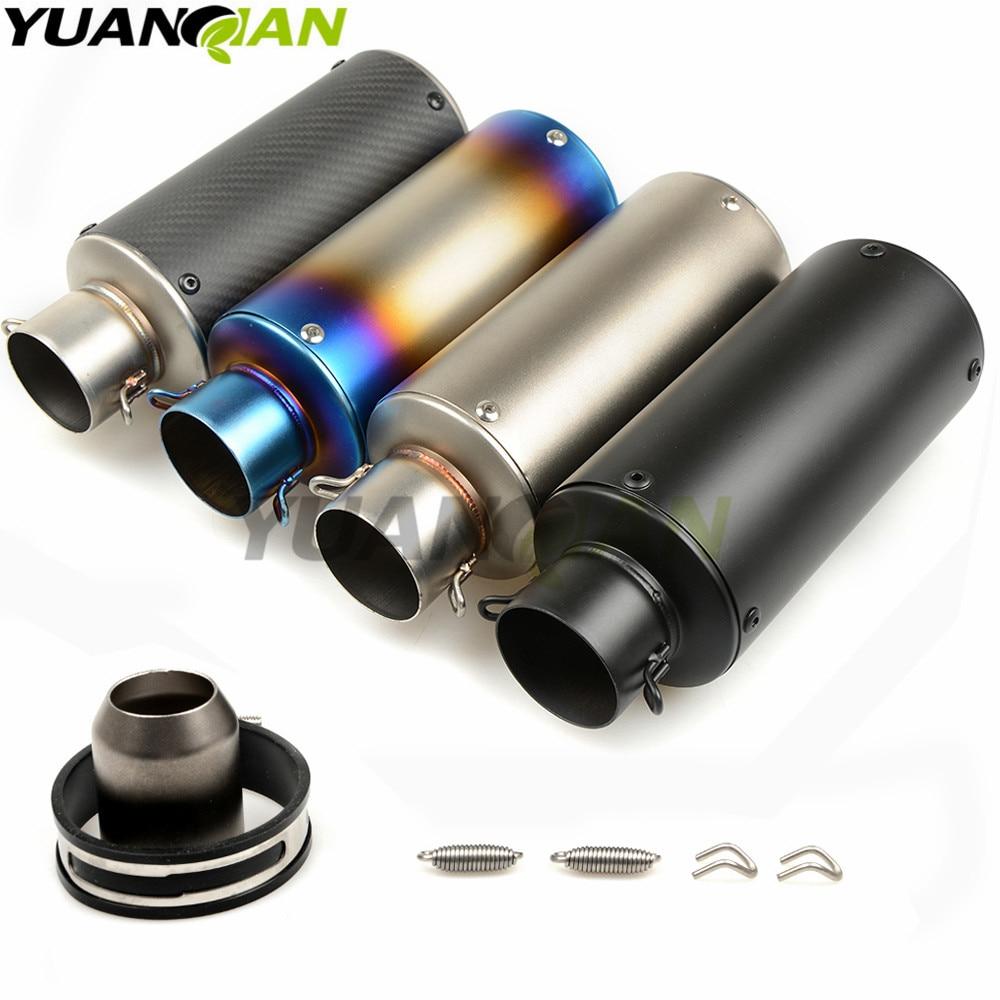 51-61MM Universal Motorcycle Exhaust Muffler Moto Escape Muffle Pipe For Yamaha FJR1300 BWs 125 FZ07 09 FZ1 FZ8 FZ6R MT09 MT07