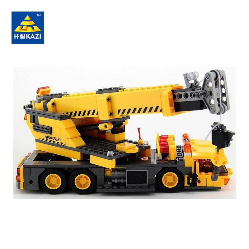 KAZI City Build Building Blocks 3D Crane Model DIY Building Blocks 380+pcs Bricks Toys For ChildrenKAZI City Build Building Blocks 3D Crane Model DIY Building Blocks 380+pcs Bricks Toys For Children