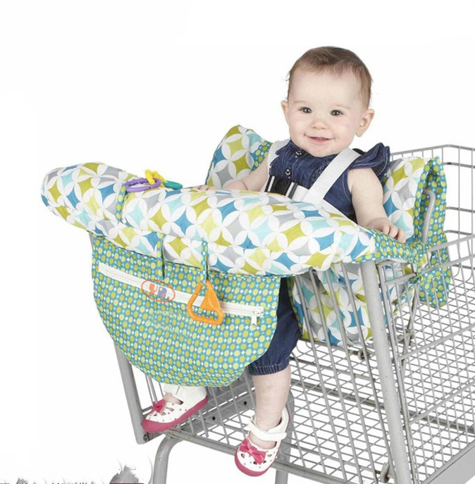 Green Baby Shopping Cart Seat Cover Safe Soft High Chair Pad For Toddler Child B