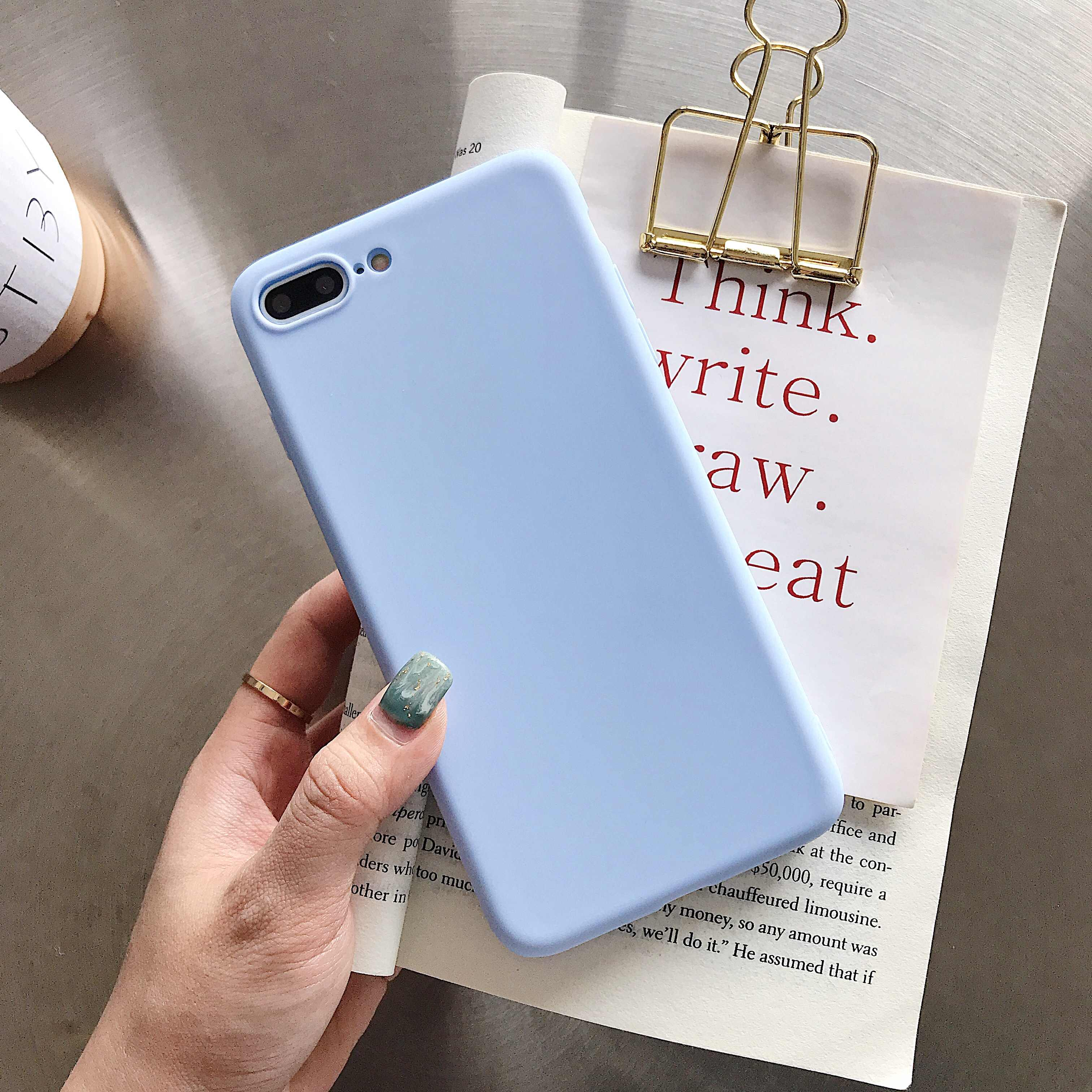 Soft Case for Samsung Galaxy A70 A60 A50 A40s A30 A20 A10 M30 M20 M10 A20E Cute Matte Candy TPU Silicone Cover Fundas Coque Caso
