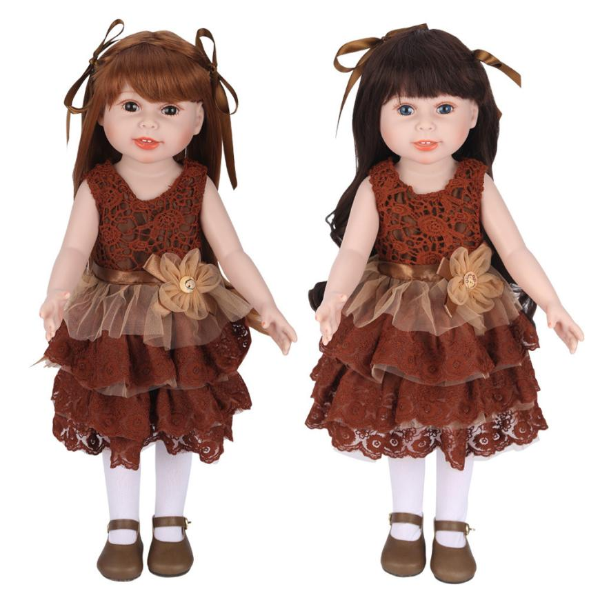 education baby toys Plush Girl Doll Baby Doll Realistic Reborn Dolls Toy With Beautiful Clothes Outdoor Best Gift KidS Toy american girl doll clothes for 18 inch dolls beautiful toy dresses outfit set fashion dolls clothes doll accessories