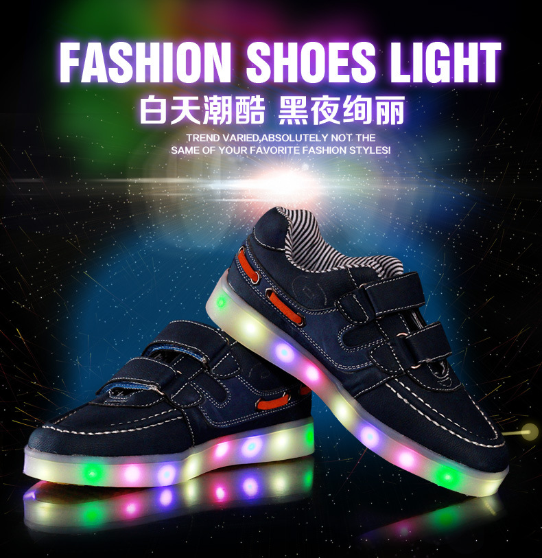 The Christmas Gift Boys and Girls Rechargeable Children S Luminous Lights Board Shoes Colorful Outdoor Shoes ...