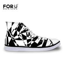 FORUDESIGNS Fashion Sample Men's Vulcanize Shoes Classic Style High Top Canvas Shoes Breathable Casual Male Lace-up Flats Shoes