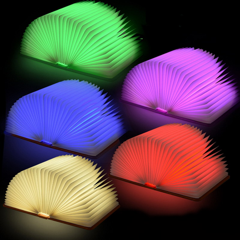 New Hot Lumio-Style LED Folding Book Lamp 4 Colors Light Innovative Gift P20 Small Light Night For The Bedroom Decor