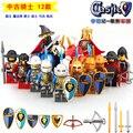 Sola venta de Mediana Edad PEQUEÑO Castillo muñecas Rey Arquero de Caballería Infantería de bloques de construcción figuras clásico juguete regalo de los niños