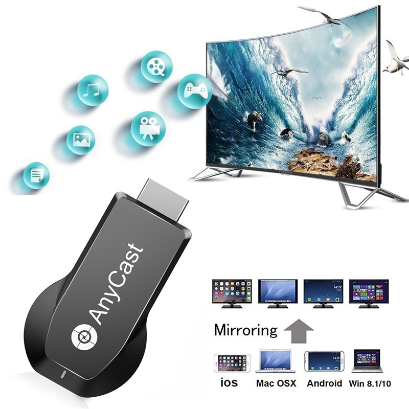 M100 4K HD 2.4G/5G WiFi Dual Frequency Wireless HDMI Receiver TV Video Transmission TV Dongle Receiver For Netflix Google Youtub(China)