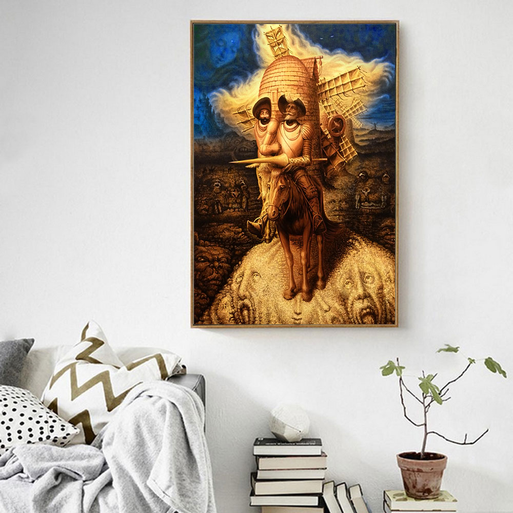 Don Quixote Abstract Oil Painting Printed on Canvas