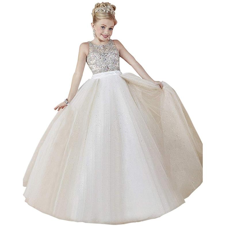 Для девочек платья для выпускного вечера бисером корсет детская бальная домашняя одежда для детей длинные праздничное платье для девочек