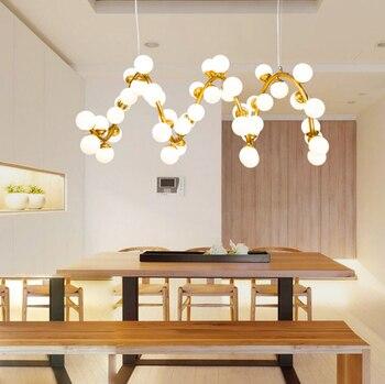 Светодиодный g4 Nordic железа Стекло минимализм светодиодный светильник светодиодный свет. подвесные светильники. подвесной светильник. подве...