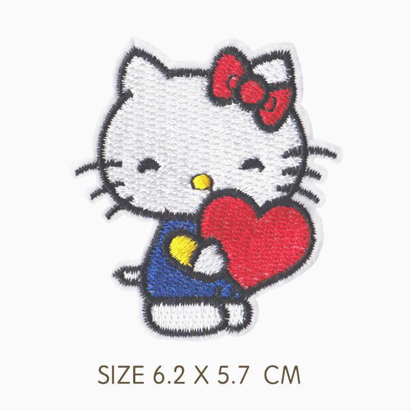1 шт. нашивки для верховой езды котенок на одежде Мультяшные полоски вышитые нашивки для рюкзака Сумки значки