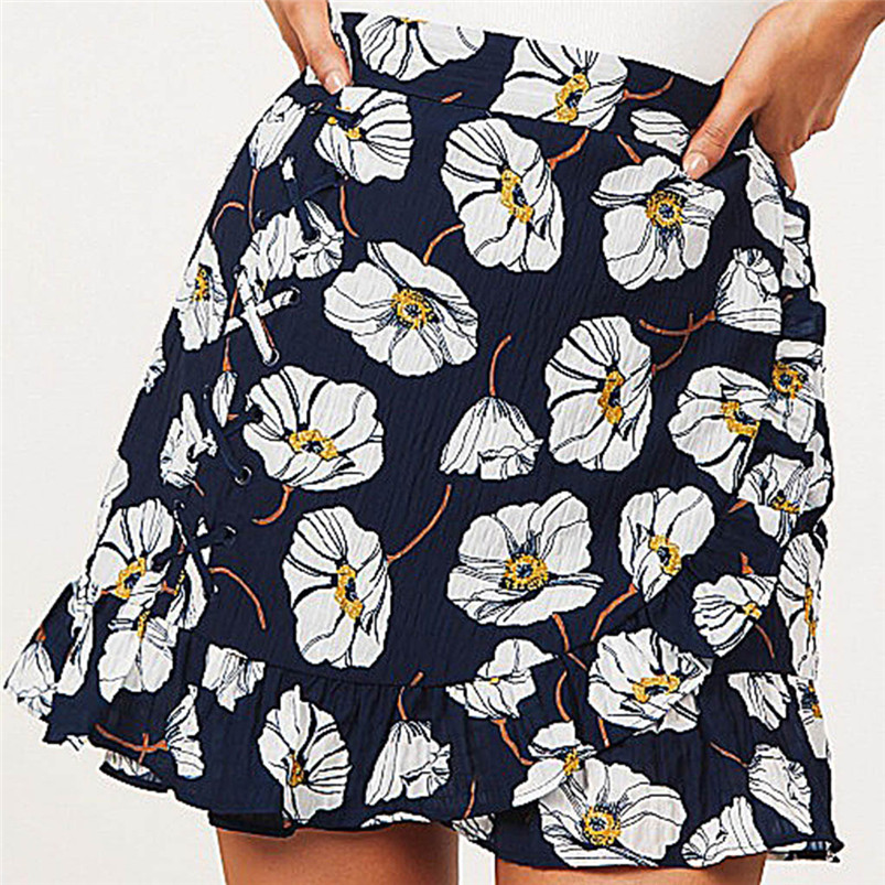 Hot Sale Women\`s Sexy Casual Ptintting Party High Waist Hip Short Skirt Short Above Knee Mini Skirt Womens Short Bottom R08 (3)