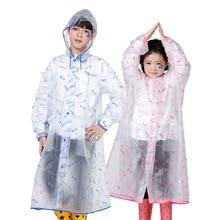 100-170cm PVC Raincoat For Children Kids student Rain Poncho Coat Child Sets Chubasqueros