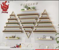Nail shop nail art shelf nail polish shelf display rack wall hanging tripod shelves