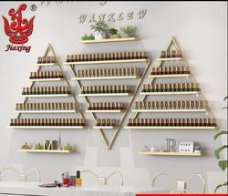 Tienda de uñas, estante artístico para uñas, estante para esmalte de uñas, estante de exhibición para colgar en pared