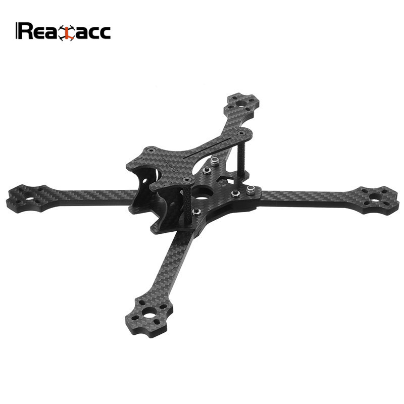 Realacc Queen 220 220mm Wheelbase 5mm Arm Carbon Fiber Frame Kit W/ 5V 12V PDB Board For RC Models Multicopter DIY Spare Parts tator rc 3k carbon fiber plate 3 5mm tl2900