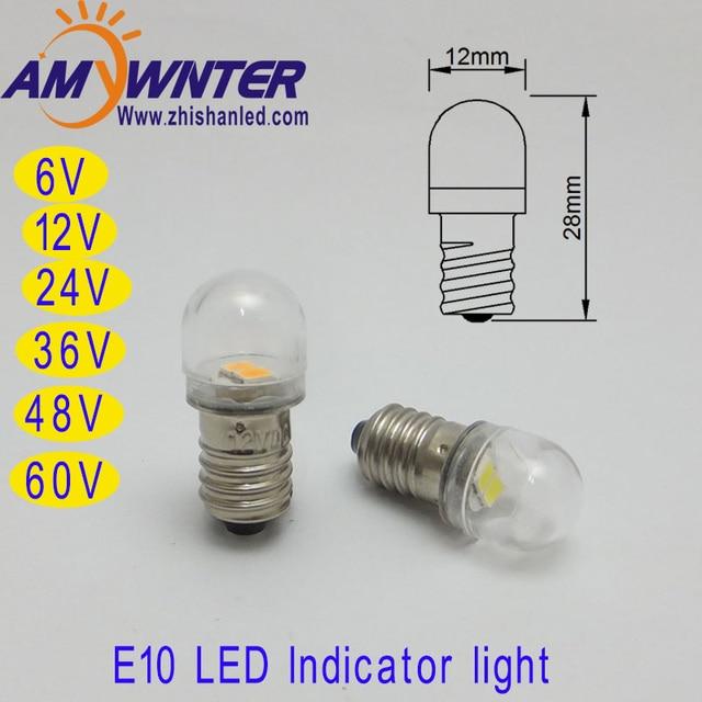 t4w 24 v ba9s e10 60 v lâmpadas led 6 v 12 v carro branco 36 48 v