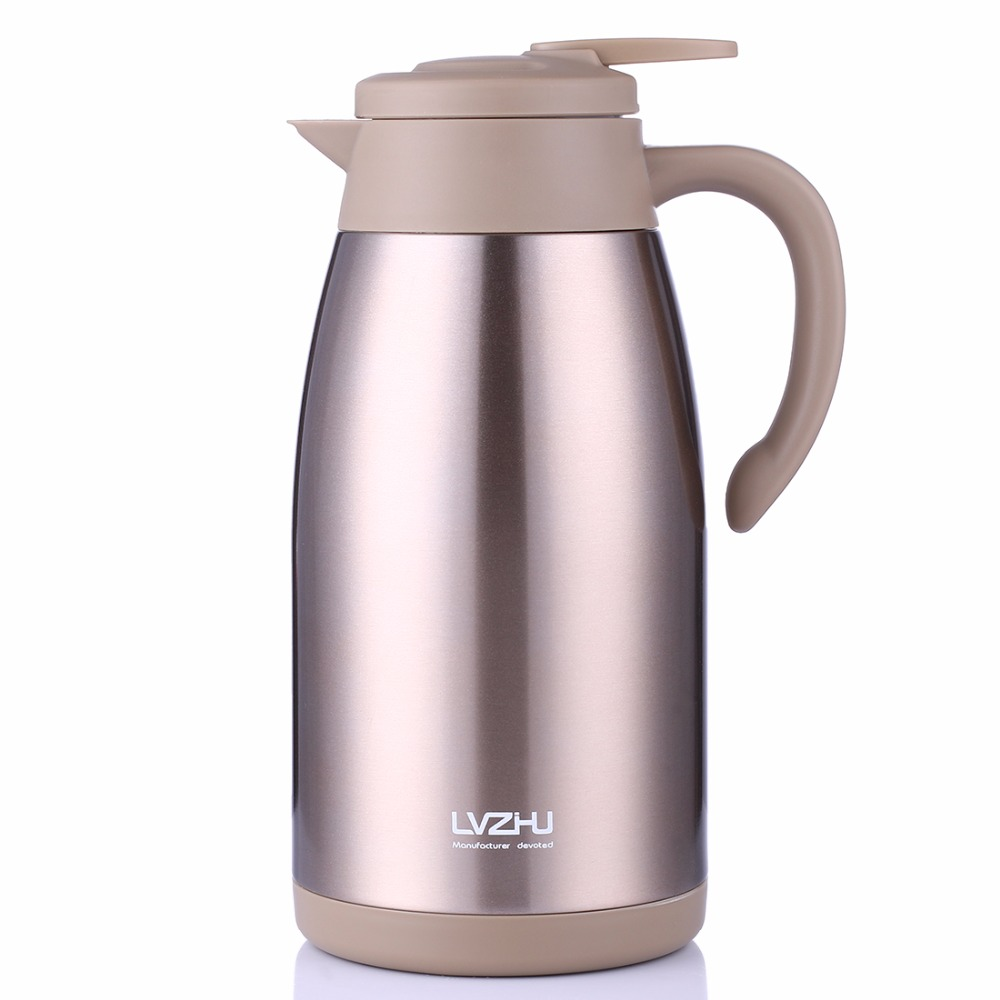 ONE New 2L Water Pot Thermal Bottle Thermos Cup 304 Stainless Steel Tea kettle Thermos Mug Thermal Water Bottle Flask Cup