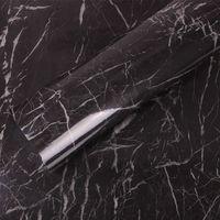 HOHOFILM 1.22x3m Marble VinySelf adhesive Wallpaper Roll Kitchen Walls Countertop Sticker Waterproof Wall Stickers