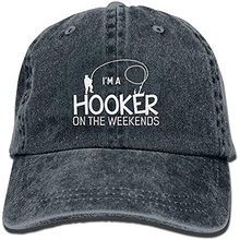 cdb2ba4278526 Hooker On The Weekend Funny Fishing Washed Retro Adjustable Cowboy Hat  Leisure Hats ForMan And Woman