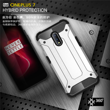 For Oneplus 7 Case Shockproof Armor Rubber Heavy Duty Back Fundas Phone Cover