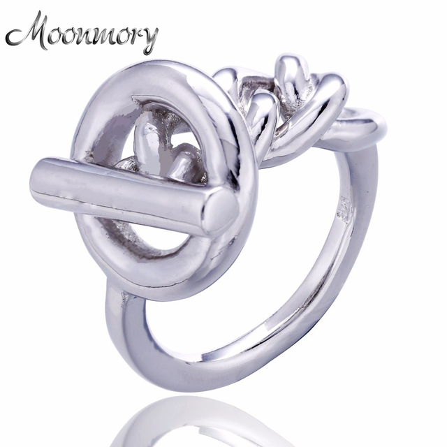 2017 Fine Jewelry 925 Sterling Silver Engagement Thread Lock Ring For Women Top Quality 925 Sterling Silver Lock Wedding Ring