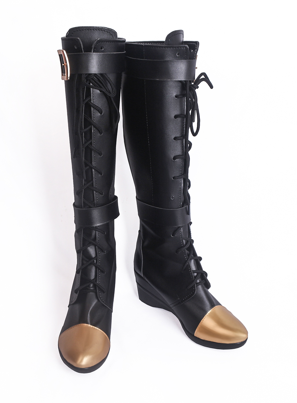 LOL Caitlyn the Sheriff of Piltover Cosplay Boots Shoes (2)
