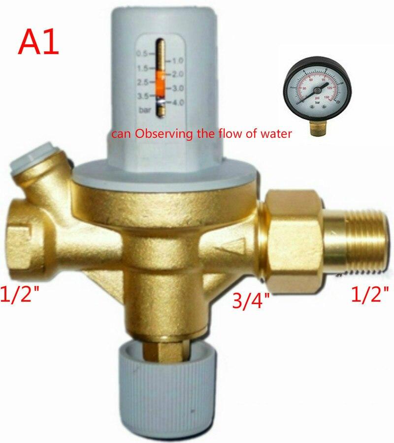 Автоматическое заполнение водой клапан наблюдения поток воды наполнения водой клапан с манометром Давление понижения