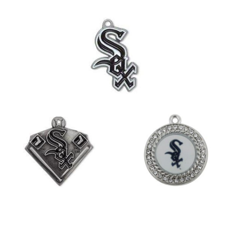 3 Styles Enamel Chicago White Sox Pendant Charms Metal Baseball Team Charm Sport Fans Jewelry