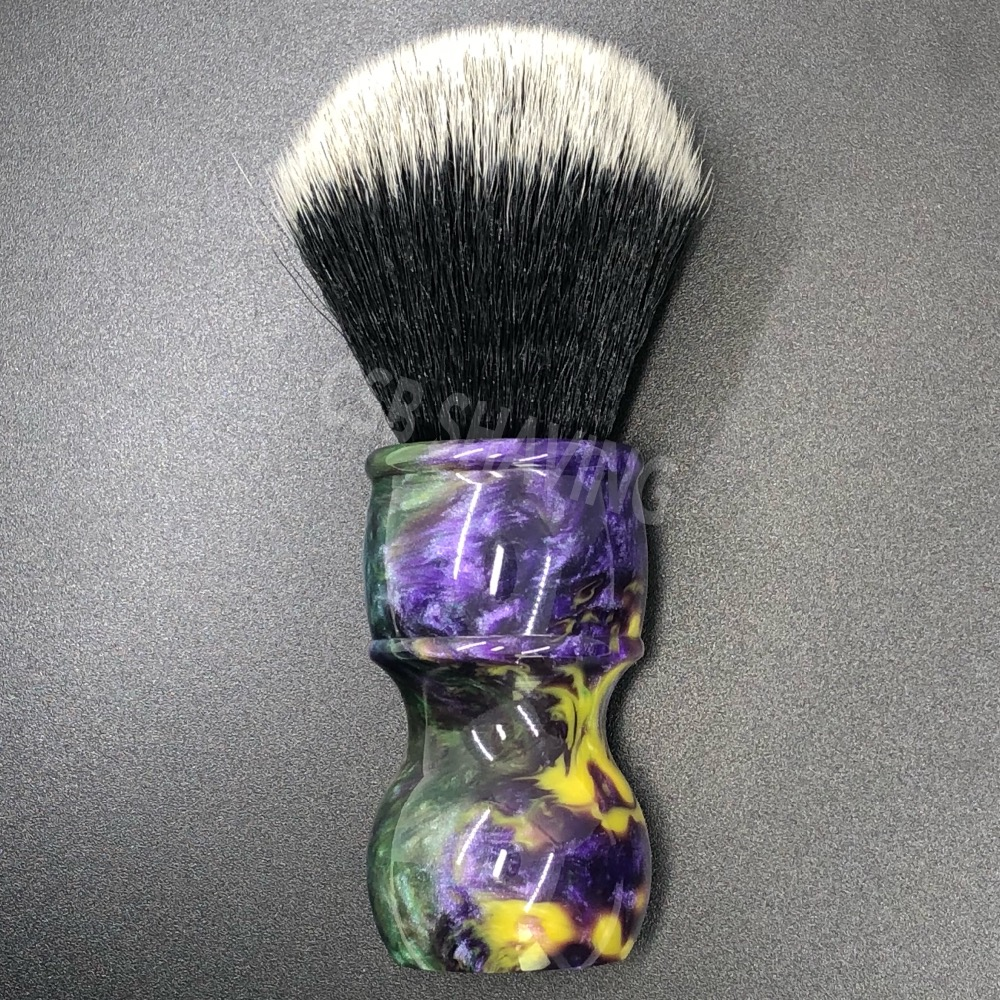 CSB Knot 24mm Tuxedo Synthetic Hair Shaving Brush Colourful Handle Barber Shop Salon Shave Wet Tool