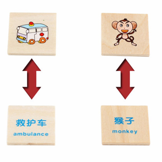 Montessori Early Educational Puzzles Toys Children Intelligence Learning Puzzle Wooden Creature 3D Kids Sorting Math Puzzle