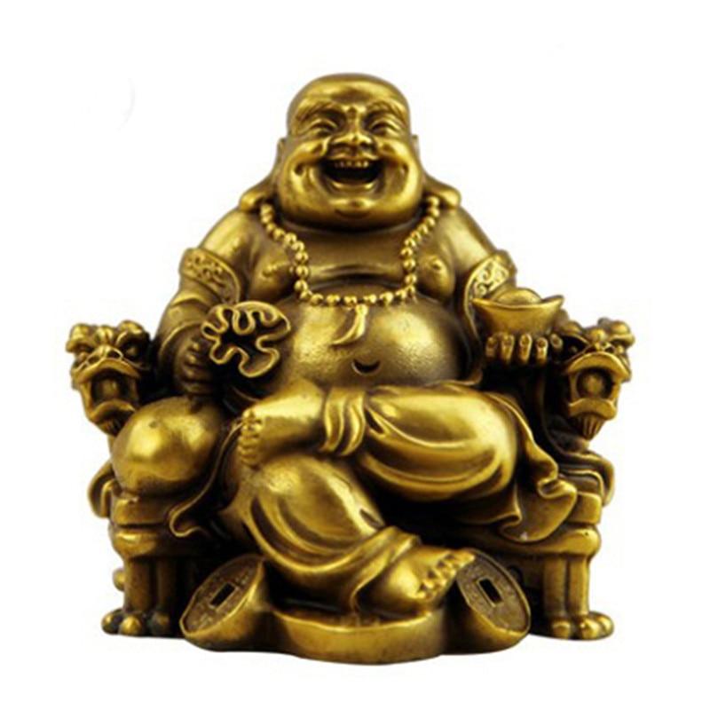 "1.3/"" Fine Curio Chinese Bronze Shakyamuni Amitabha Buddha Head Small Pendant佛头挂件"