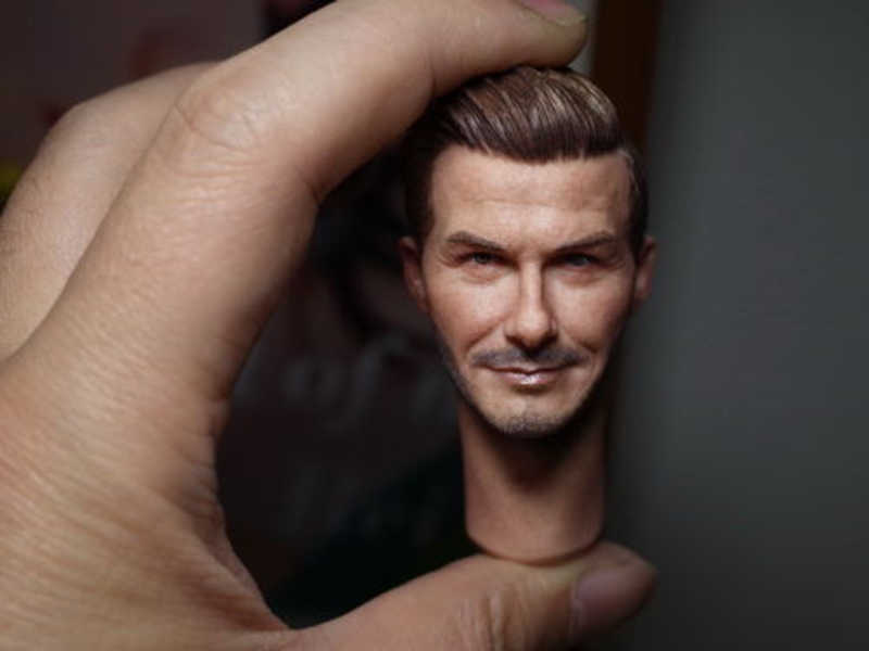 "1//6 Scale David Beckham Head Sculpt Model Fit for 12/"" Action Figure Body"