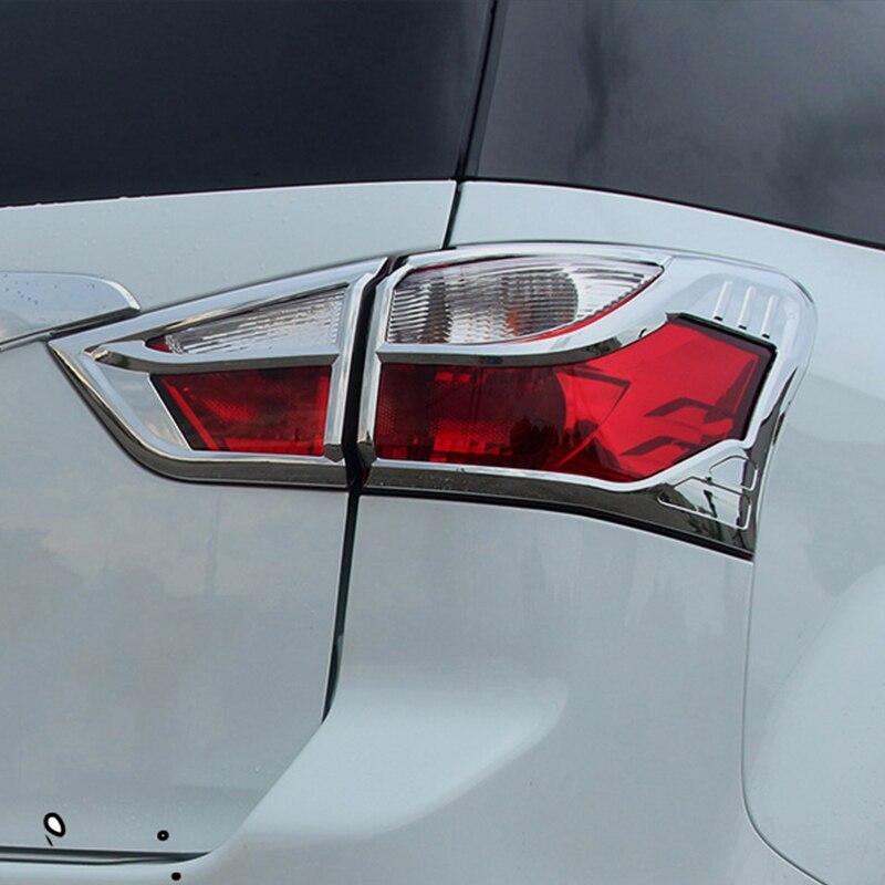 ABS Chrome car accessories Car rear back Tail Light lamp Cover Trim 4pcs/set Fit For Isuzu MU X 2015 2016