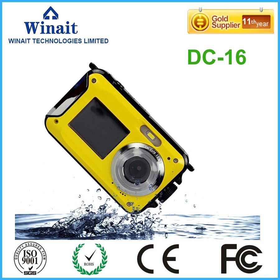 Winait 2017 popular DC-16 digital camera with 2.7 TFT +1.8 TFT dual display cameraWinait 2017 popular DC-16 digital camera with 2.7 TFT +1.8 TFT dual display camera