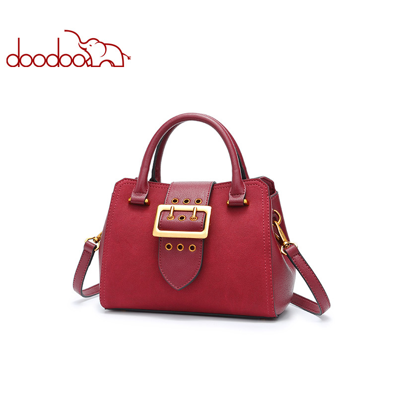 DOODOO Brand Women Handbags Female Shoulder Crossbody Bags Ladies Artificial Leather Top-handle Bag New Small 3 Colors Tote Bag hot sale 2016 france popular top handle bags women shoulder bags famous brand new stone handbags champagne silver hobo bag b075
