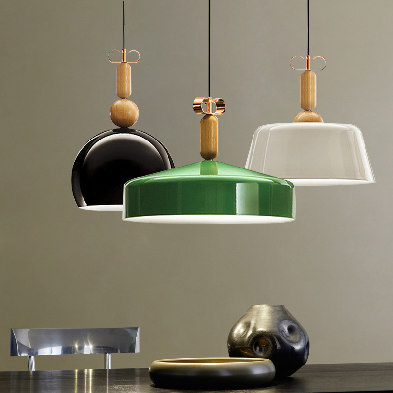 Nordic Modern Minimalist Creative Aluminum Wood Led E27 Pendant Light For Dining Room Living Room Bar Dia 35/40/45cm 1154 gilbert e big magic creative living beyond fear