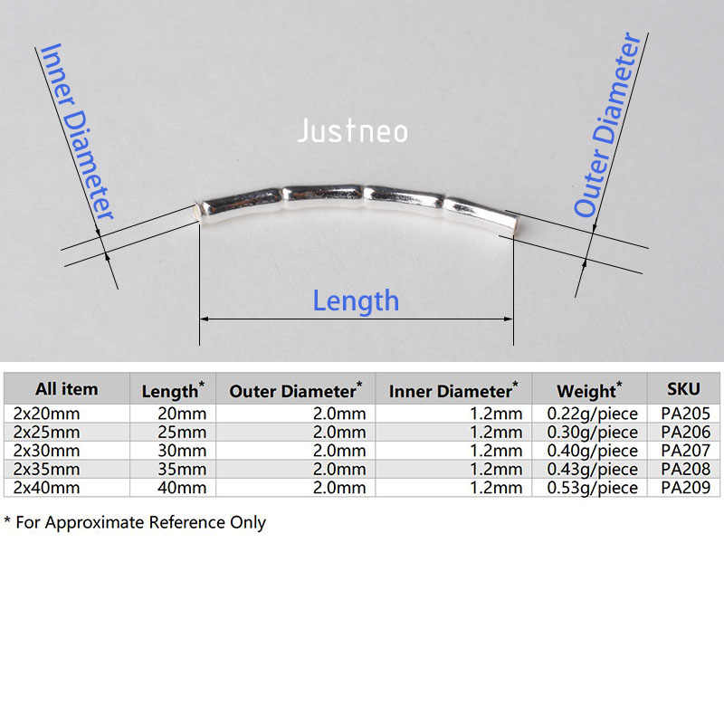 2 ミリメートル固体 925 スターリングシルバーカーブ竹チューブスペーサビーズコネクタ用ネックレス & ペンダントブレスレットジュエリーメイキング