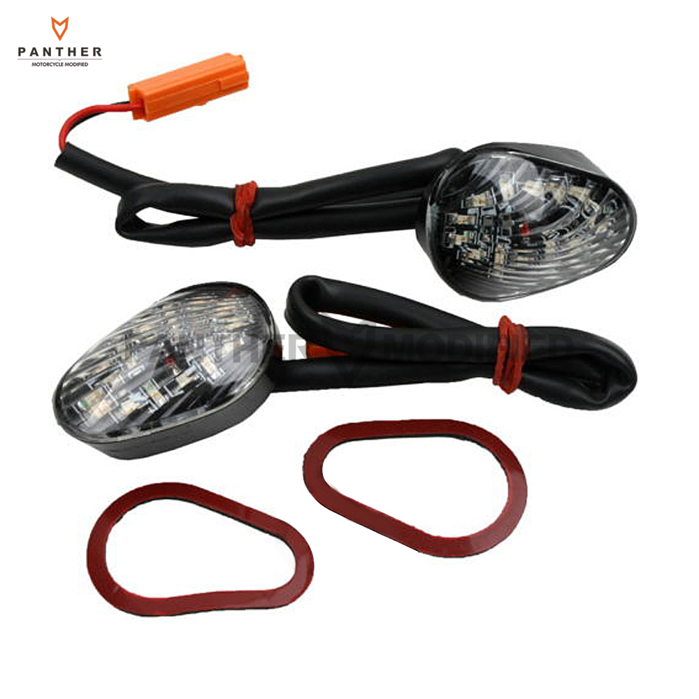 1 Pair Clear Motorcycle Flush mount LED Turn Signals Light case for Honda CBR600 F4i 2001 2002 2003 2004 2005 2006