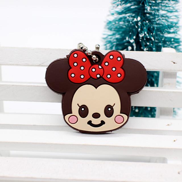 Silicone Cartoon Anime Minion Cute Owl Hello Kitty Bear Mickey Keychain key Holder porte clef