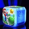 Super mario bros juguetes aficiones ledclocks Digital light touch supermario figuras de acción de juguete pokemon ir Noche de luz de Colores