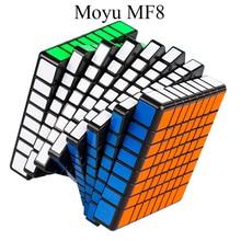 Мою mofang классе MF8 Magic Cube 8 слоев Cube Черный/Stickerless 8x8x8 куб Логические игрушки для Для детей