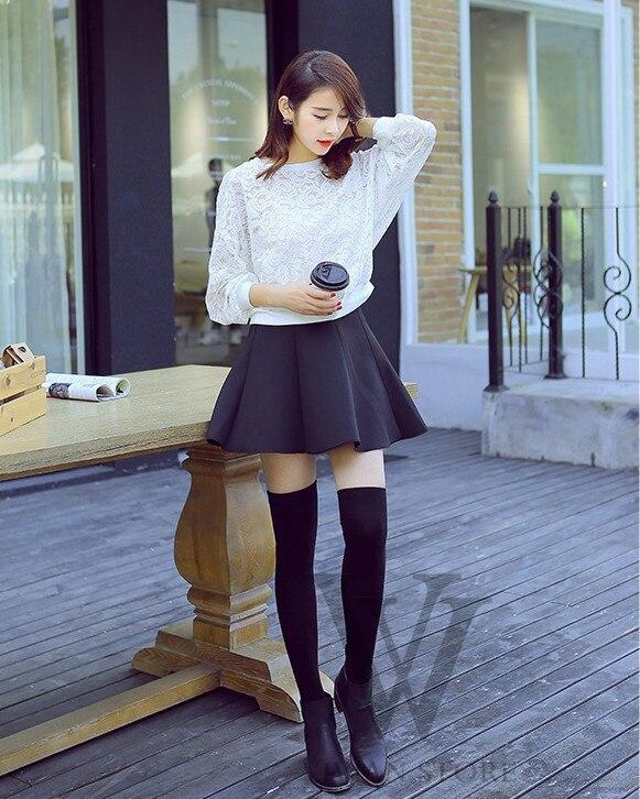 2015 NEW 4 Colors Fashion Sexy <font><b>Knit</b></font> <font><b>Thigh</b></font> <font><b>High</b></font> Over The Knee Socks Long Cotton Stockings For Girls Ladies Women Wholesale