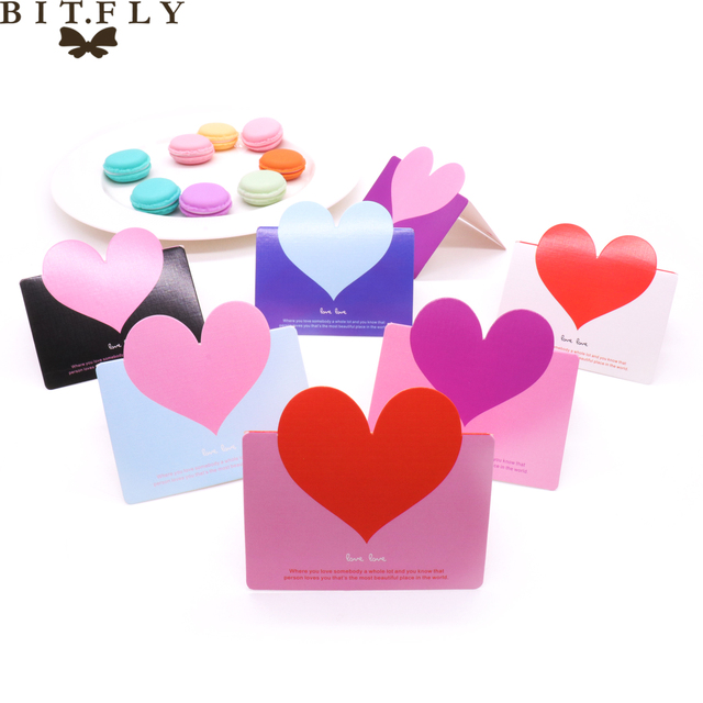 10pcs Romantic Pink Valentine S Day Mini Envelope With Lovely Heart
