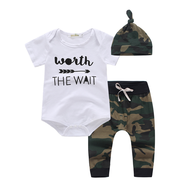 482a9e038 2019 summer style baby boy clothes ArmyGreen Cotton short sleeve ...
