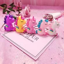 Fashion Fancy&Fantasy Hot Sale Cute Unicorn Keychain Animal PVC Keychains Women Bag Charm Key Ring Pendant Gifts High Quality