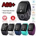 Smartband A88 + Кислорода В Крови Монитор Сердечного ритма Смарт Браслет Спорт Группа Фитнес-Трекер Шагомер Браслет Для iPhone 7 BT4.0