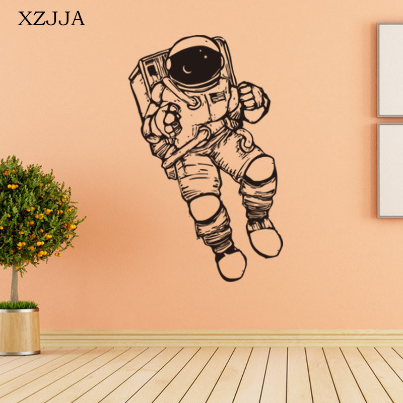 XZJJA 3D Cute Astronauts Wall Stickers Space Cartoon Mural Art For Kids  Room Sitting Room Wall Posters Home Decor Wallpaper in Hair Clips   Pins  from Beauty. XZJJA 3D Cute Astronauts Wall Stickers Space Cartoon Mural Art For