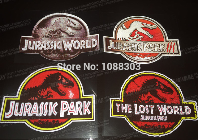 7891b39bc8 4 Styles Classical Film Auto Whole Body Car Sticker Decals Reflective for Jurassic  Park The Lost World