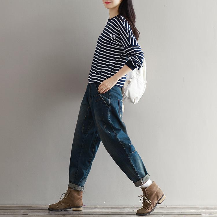 17 Winter Big Size Jeans Women Harem Pants Casual Trousers Denim Pants Fashion Loose Vaqueros Vintage Harem Boyfriend Jeans 11
