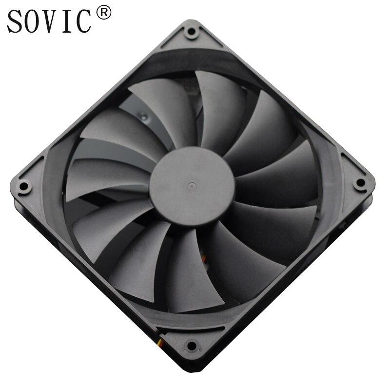 3PIN 140mm DC 12 V minero caso de extracción minera, ventilador de refrigeración para BTC minero Bitcoin Antminer S7 S9 de bajo ruido poderoso servidor refrigerador